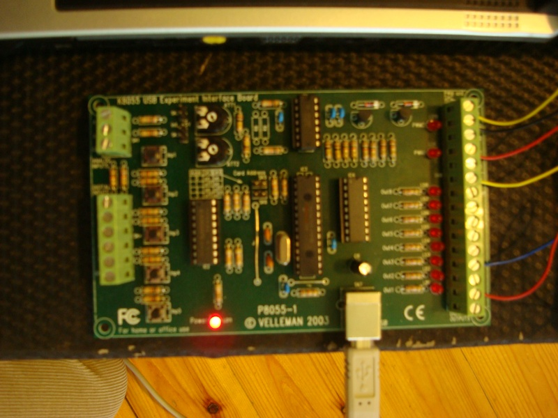 Assembled Velleman K8055 USB Interface Board