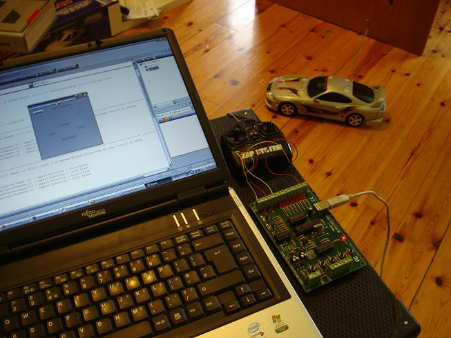 Computer Controlled RC car using vb.net program and velleman k8055 usb interface board